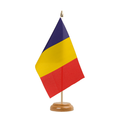 "Chad Table Flag - 6x9"" (15 x 22 cm), wooden"
