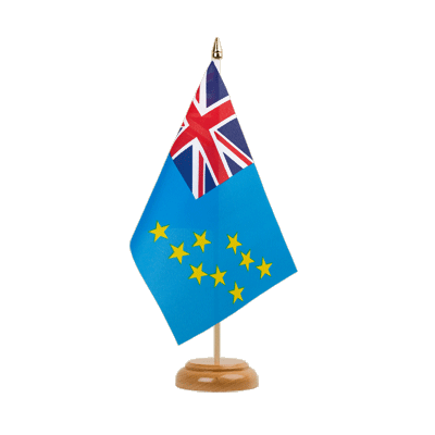 "Table Flag Tuvalu - 6x9"" (15 x 22 cm), wooden"