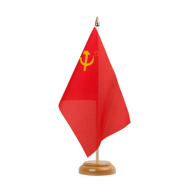 "Desk and Table Flag USSR Soviet Union - 6x9"" (15 x 22 cm), wooden"