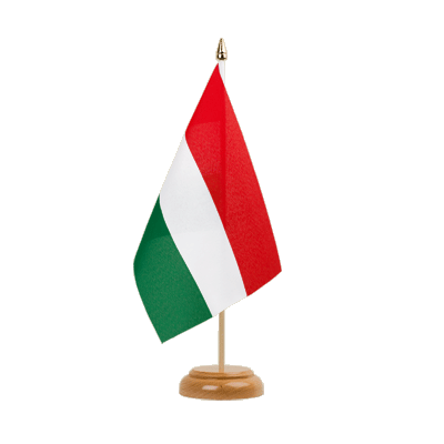 "Table Flag Hungary - 6x9"" (15 x 22 cm), wooden"