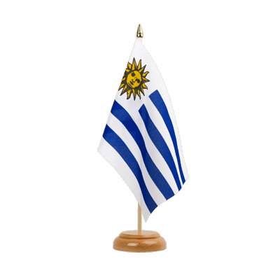 "Table Flag Uruguay - 6x9"" (15 x 22 cm), wooden"