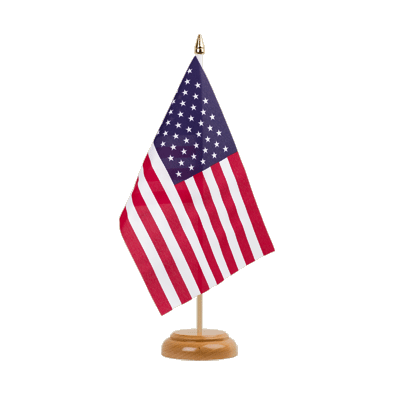 "Desk and Table Flag USA - 6x9"" (15 x 22 cm), wooden"