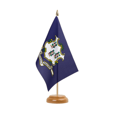 "Table Flag Connecticut - 6x9"" (15 x 22 cm), wooden"