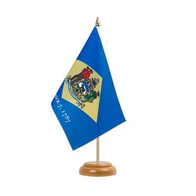 "Table Flag Delaware - 6x9"" (15 x 22 cm), wooden"