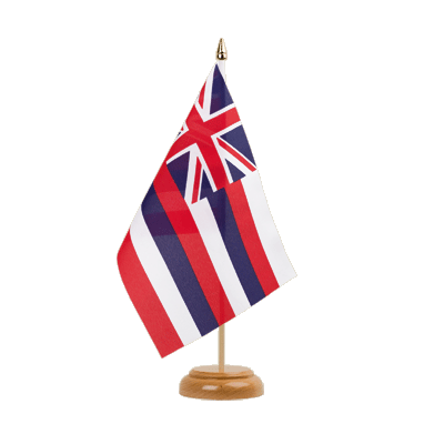 "Desk and Table Flag Hawaii - 6x9"" (15 x 22 cm), wooden"
