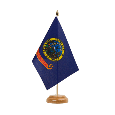 "Desk and Table Flag Idaho - 6x9"" (15 x 22 cm), wooden"