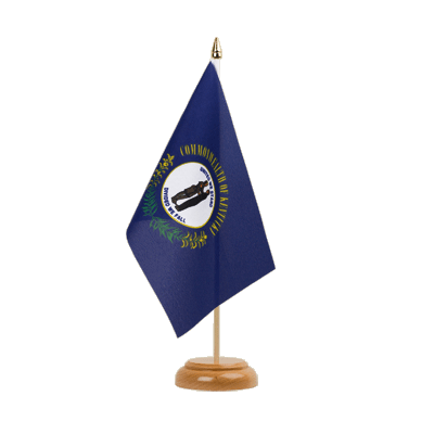 "Kentucky Table Flag - 6x9"" (15 x 22 cm), wooden"