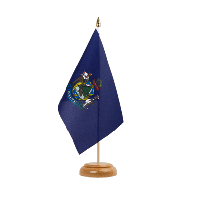 "Desk and Table Flag Maine - 6x9"" (15 x 22 cm), wooden"