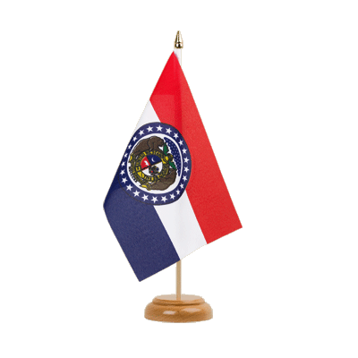 "Desk and Table Flag Missouri - 6x9"" (15 x 22 cm), wooden"