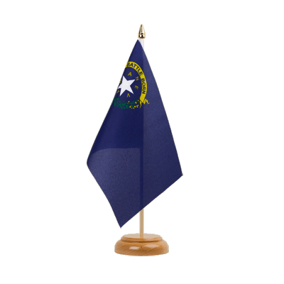 "Desk and Table Flag Nevada - 6x9"" (15 x 22 cm), wooden"