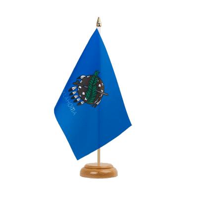 "Desk and Table Flag Oklahoma - 6x9"" (15 x 22 cm), wooden"