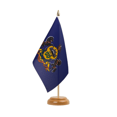 "Table Flag Pennsylvania - 6x9"" (15 x 22 cm), wooden"