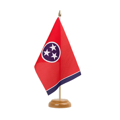 "Table Flag Tennessee - 6x9"" (15 x 22 cm), wooden"