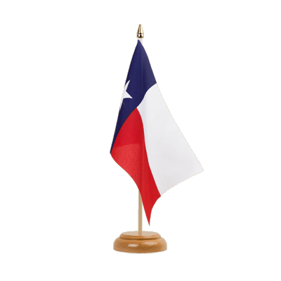 Drapeau de table Texas 15x22 cm, bois