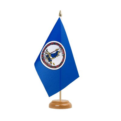 "Virginia Table Flag 6x9"", wooden"