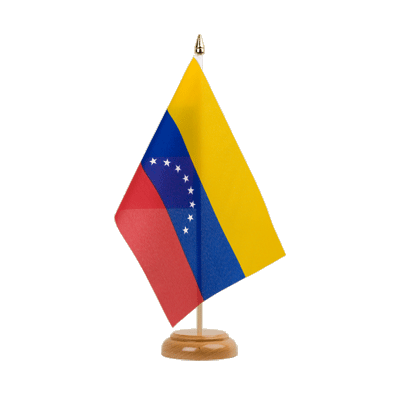 "Table Flag Venezuela 8 stars - 6x9"" (15 x 22 cm), wooden"