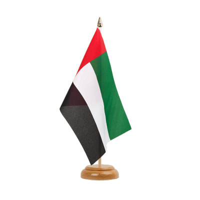"Table Flag United Arab Emirates - 6x9"" (15 x 22 cm), wooden"