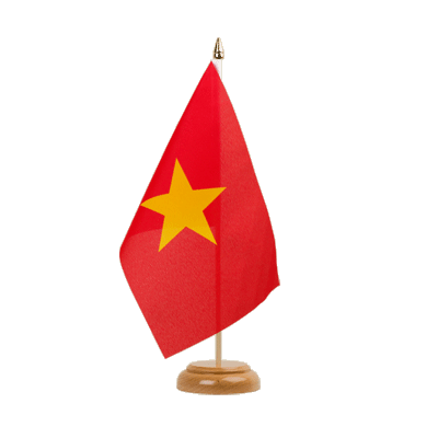 "Table Flag Vietnam - 6x9"" (15 x 22 cm), wooden"