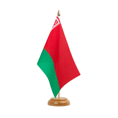 "Desk and Table Flag Belarus - 6x9"" (15 x 22 cm), wooden"
