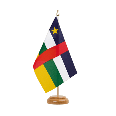 "Table Flag Central African Republic - 6x9"" (15 x 22 cm), wooden"