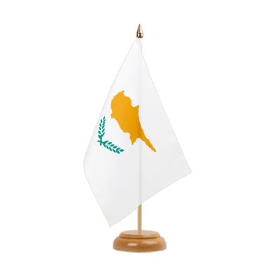 "Desk and Table Flag Cyprus - 6x9"" (15 x 22 cm), wooden"