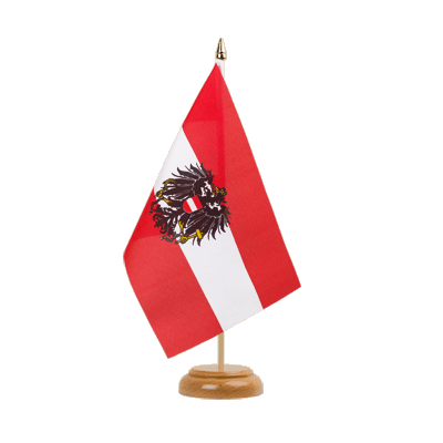 "Table Flag Austria eagle - 6x9"" (15 x 22 cm), wooden"