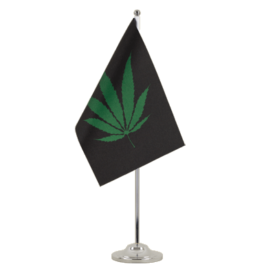 Drapeau de table prestige Cannabis Reggae 15x22 cm