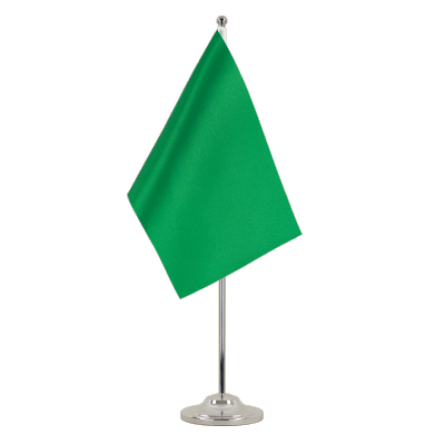 Satin Table Flag green - 6x9""