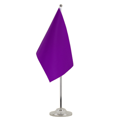 Satin Desk and Table Flag Purple - 6x9""