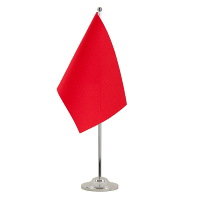 Satin Table Flag red - 6x9""