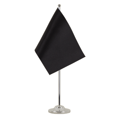 Satin Table Flag black - 6x9""