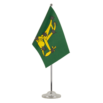Drapeau de table prestige Starry Plough vert 1916-1934 15x22 cm