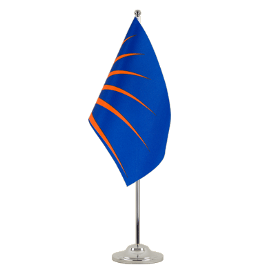 Satin Sunburst Table Flag - 6x9""