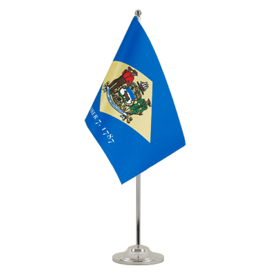 Satin Desk and Table Flag Delaware - 6x9""