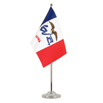 Drapeau de table prestige Iowa 15x22 cm