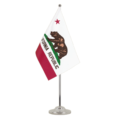 Satin Table Flag California - 6x9""