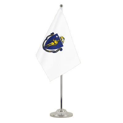 Satin Table Flag Massachusetts - 6x9""