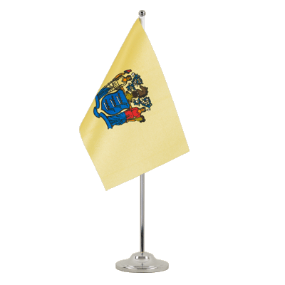 Drapeau de table prestige New Jersey 15x22 cm