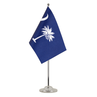 Satin Desk and Table Flag South Carolina - 6x9""