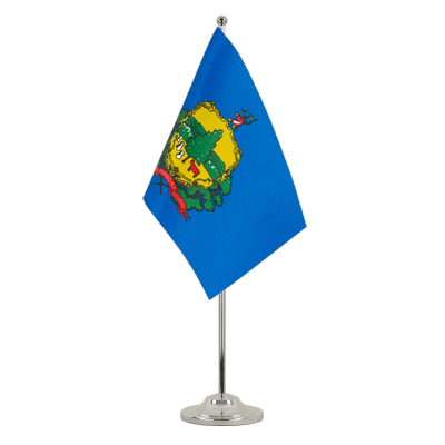 Satin Table Flag Vermont - 6x9""