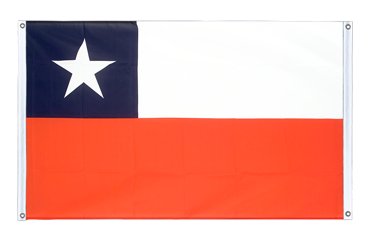 Banner Flag Chile - 3x5 ft (90x150 cm), landscape