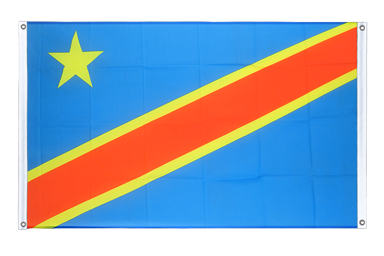Banner Flag Democratic Republic of the Congo - 3x5 ft (90x150 cm), landscape