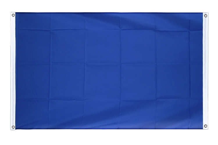 Banner Flag blue - 3x5 ft (90x150 cm), landscape