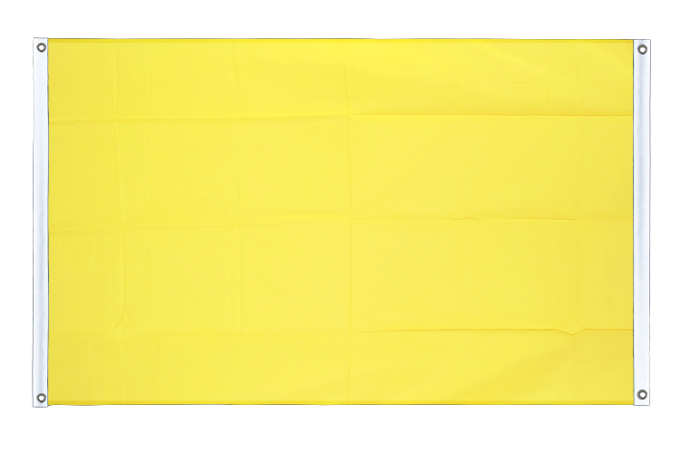 Banner Flag yellow - 3x5 ft (90x150 cm), landscape