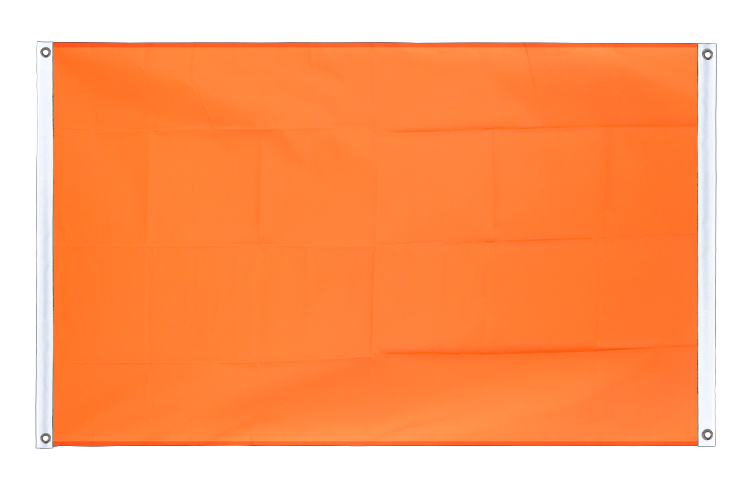 Orange Bannerfahne 90 x 150 cm, Querformat