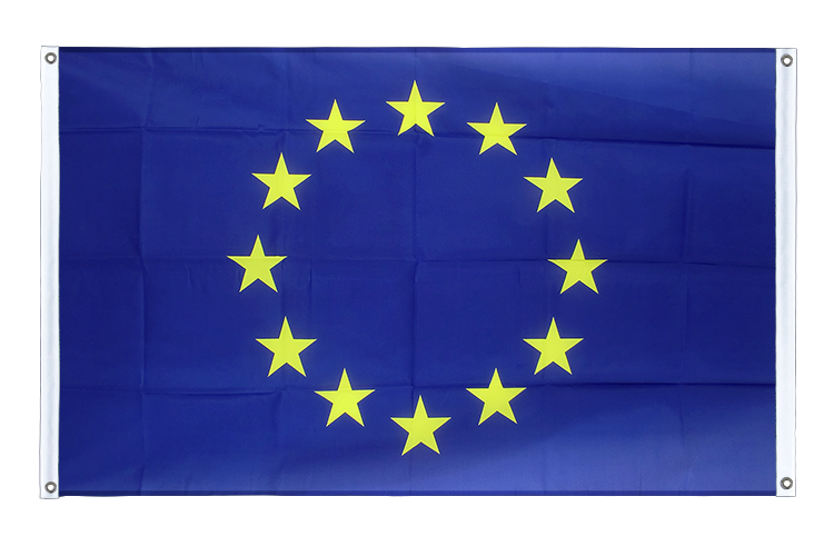 Banner Flag European Union EU - 3x5 ft (90x150 cm), landscape