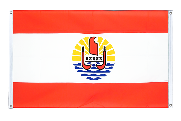 Banner Flag French Polynesia - 3x5 ft (90x150 cm), landscape