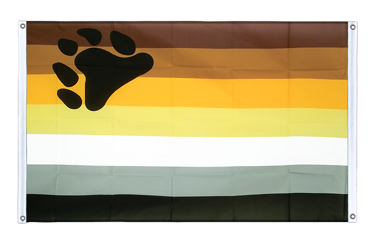 Banner Flag Gay Pride Bear - 3x5 ft (90x150 cm), landscape