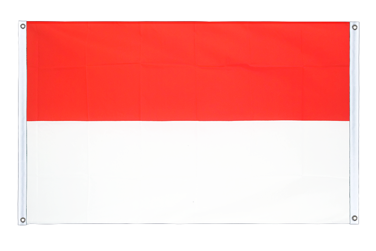 Banner Flag Indonesia - 3x5 ft (90x150 cm), landscape