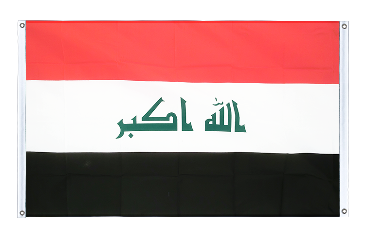 Banner Flag Iraq 2009 - 3x5 ft (90x150 cm), landscape